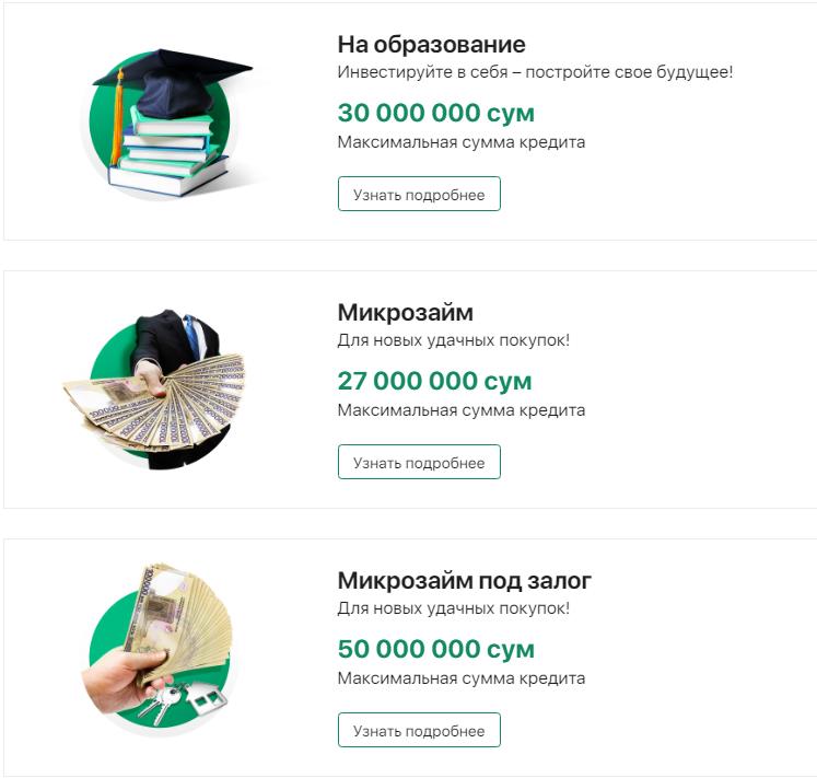 Кредиты в банках Узбекистана